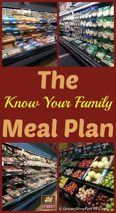 The Know Your Family Meal Plan!