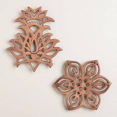 One of my favorite discoveries at WorldMarket.com: Caravan Copper Trivets, Set of 2
