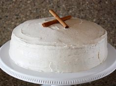 Snickerdoodle Cake w/ Cinnamon Cream Cheese Frosting