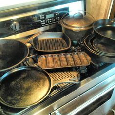 I had to stick a meatloaf in the oven so took a few photos of a most loved tool in the kitchen...my cast iron. #castironpans #kitchentools #mykitchen #cooking #castironlove | Flickr - Photo Sharing!