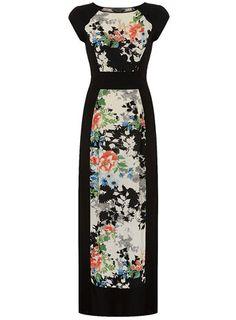 Black oriental tee maxi dress. $57