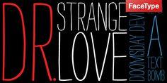 handdrawn-ish type.  Strangelove. Myfonts.com