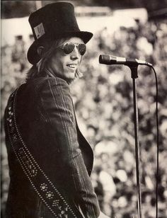 Tom Petty on stage.