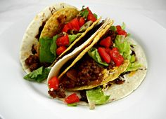 Healthy Double Decker Tacos. Copy cat Taco Bell at home! Recipe at The Tasty Fork