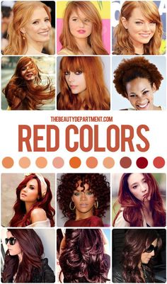 THE HAIR COLOR GUIDE (REDS)