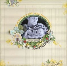 When You're Fast Asleep Layout by Melinda Spinks via Jillibean Soup Blog