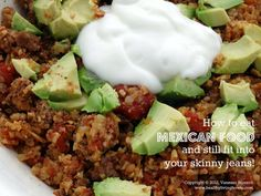 """How to eat mexican food and still fit in your skinny jeans: """"Beefy Mexi Cauli Rice"""" #paleo"""