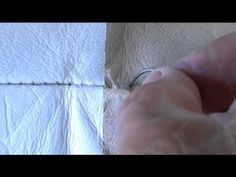 Hand Sewing leather - YouTube