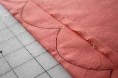 How to sew a perfect scalloped hem