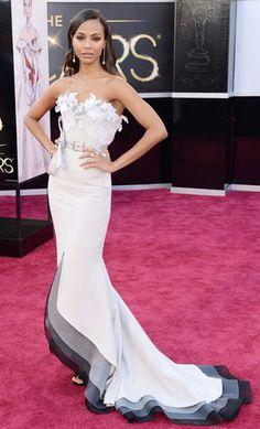 Zoe Saldana looking super amaze. #Oscars.