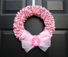Breast Cancer awareness wreath.