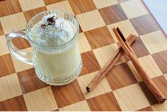 Dress up your holiday eggnog with delicious coffee creamers like this recipe by @BAILEYS® Creamers, French Vanilla Eggnog! #HolidayHelper