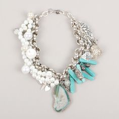 Pearl Necklace Blue now featured on Fab.