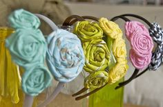Headbands diy headband, craft, accessori, flower collect, diy idea, hair style, headbands, headband collect, beauti flower
