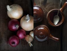 Classic French Onion Soup made with nourishing beef bone broth, beef tallow, onions, thyme, bay and peppercorns.  Super easy to make and great for cold autumn and winter days.