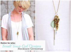 charms, keys, beauti giveaway, small towns, homes, families, long necklaces, young design