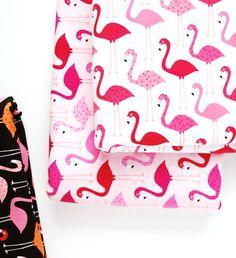 ann kelle urban zoologie / flamingo fabric