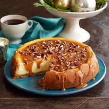 Deck out your holiday dessert table with this decadent Praline Cheesecake from @Philadelphia Cream Cheese.  #cheesecakecheer