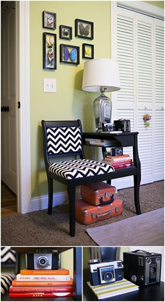 Jennifer Stuart Photography office - telephone chair