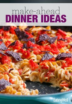 Healthy Mac & Cheese, Quick Pasta Bolognese, Quinoa Veggie Burgers, Chicken Florentine Roll Ups and more healthy dinner ideas.