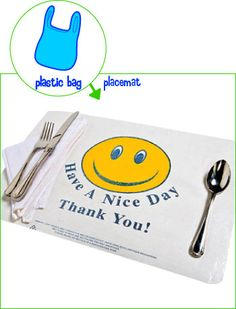 Recycle plastic bags into placemats