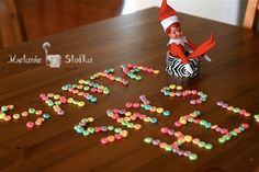 Elf on the Shelf idea - Elf delivers a message from Santa