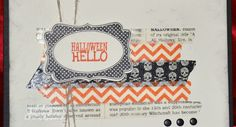 Stampin' Up! Demonstrator, A quick and easy Halloween card using washi tape