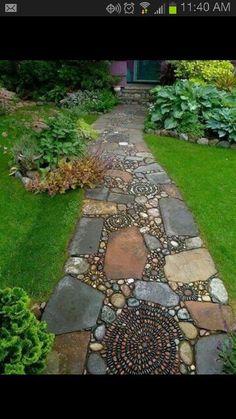 Cool stone walkway