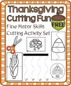 Thanksgiving Cutting Activity Set – Fine Motor Skills Development FREE