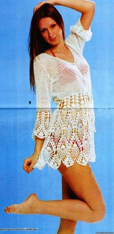 Crochet tunic pattern.  Click on the first blue highlighted word.