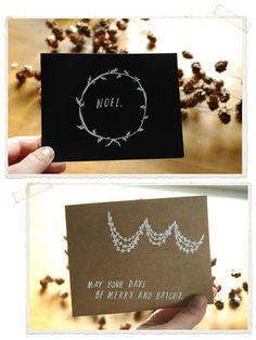 love these simple christmas cards