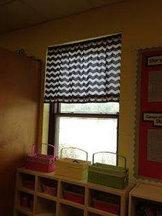 No sew classroom curtains!