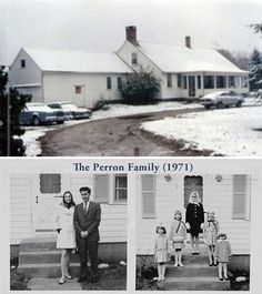 The movie the Conjuring was based on the family Perron's true life events. The real Conjuring farmhouse, often referred to by the Perron family as the Old Arnold Estate, is still standing and is located in Harrisville, Rhode Island.
