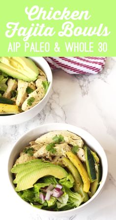 Chicken Fajita Bowls