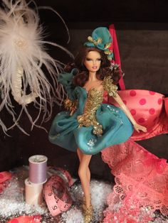 Special edition holiday window display. Most amazing custom dolls in the world by RyanKenBarbie