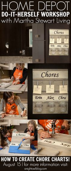 Great workshop to create this DIY Chore chart!