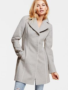 Fit-and-flare Coat