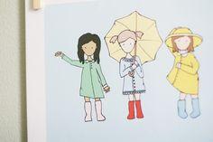 Childrens Art Print  Nursery Art Print  GIRLS Kids by CinnamonInk, $12.00