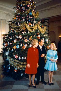 The Nixon White House Christmas--Pat, Richard and Trisha Nixon