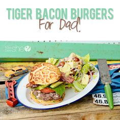Tiger Bacon Burgers For Dad! | How Does She...