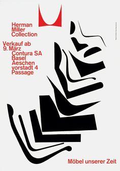 Herman Miller Collection, Möbel unsererer Zeit, 1962 — Armin Hofmann