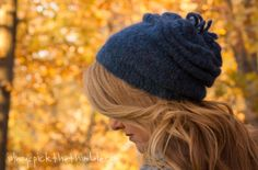 knit beret, free pattern, knitting patterns, knitted hats, knit hat, blueslouchyberet, berets, knit patterns, free knit