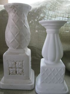 Tutorial on how to repaint glazed ceramic items.  Great way to give new life to old lamps, vases, and candlesticks!