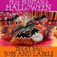 party favors, halloween treat bags, halloween parties, printabl halloween, goodi