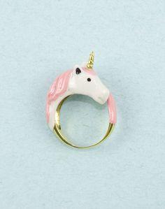 Pink Unicorn Ring