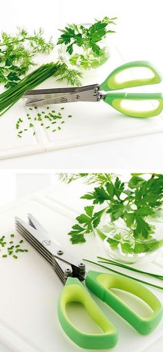 Herb scissors // Cuts Herbs 5 Times Quicker *Also cuts lettuce, ham, mushrooms & more*