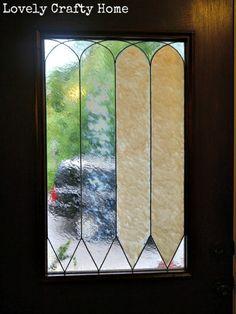 diy lead glass door insert