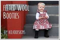 felted wool boot tutorial