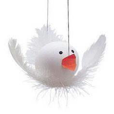 feather crafts, blown egg crafts, bird decor, ball, easter crafts