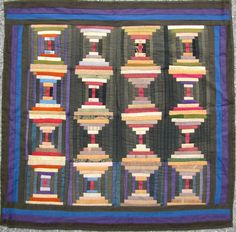Amish courthouse steps crib quilt